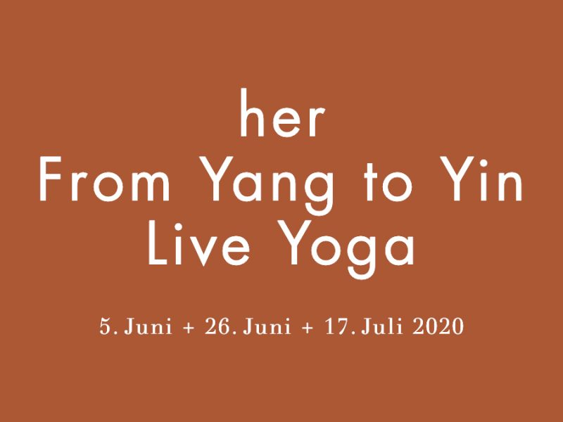 her From Yang to Yin Live Yoga